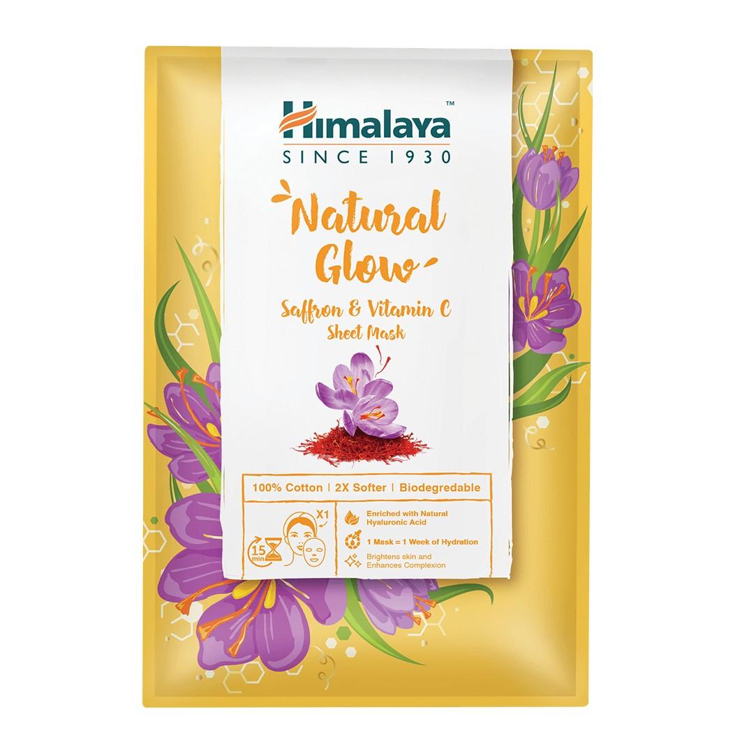 Himalaya Természetes ragyogás textilmaszk sáfránnyal és C-vitaminnal