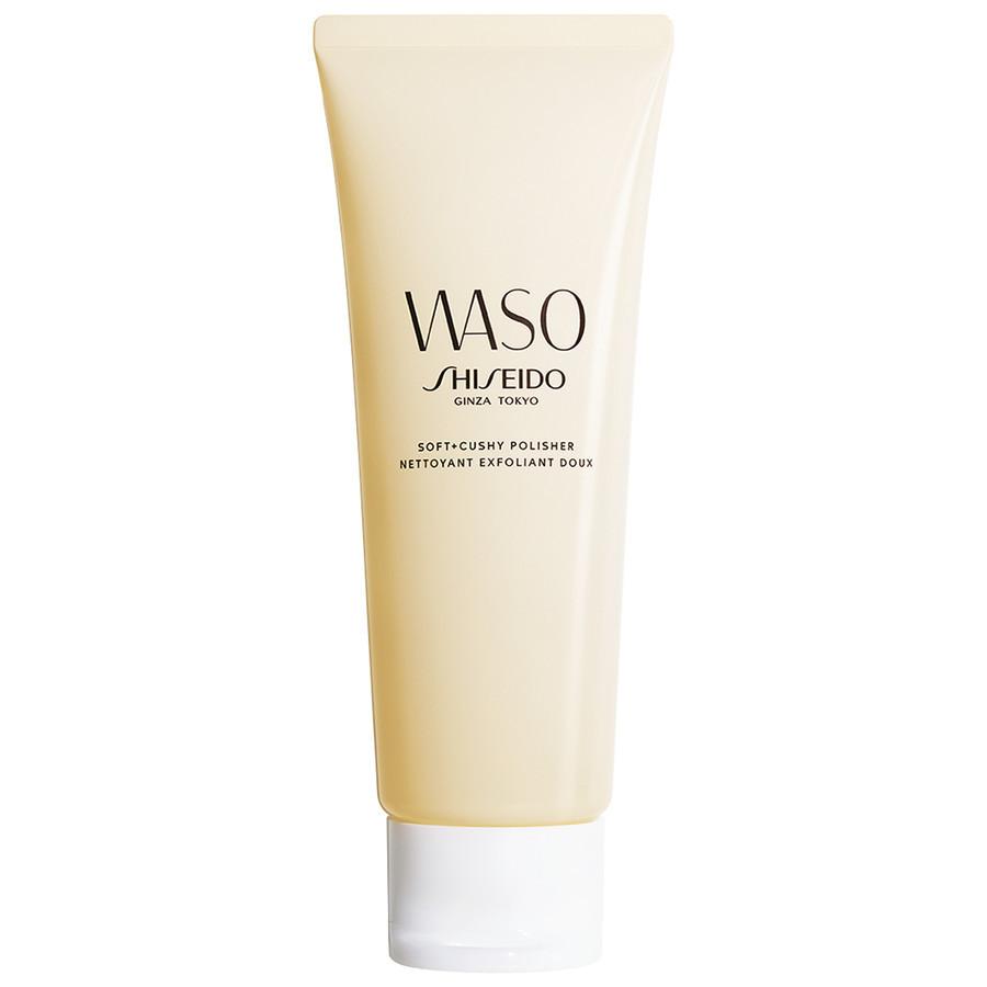Shiseido WASO Soft+Cushy Polisher gyengéd tisztító arcradír zsíros bőrre