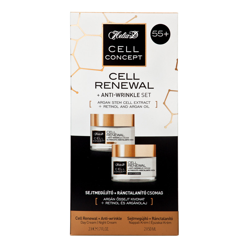 Helia-D Cell Renewal+Anti Wrinkle Set 55+