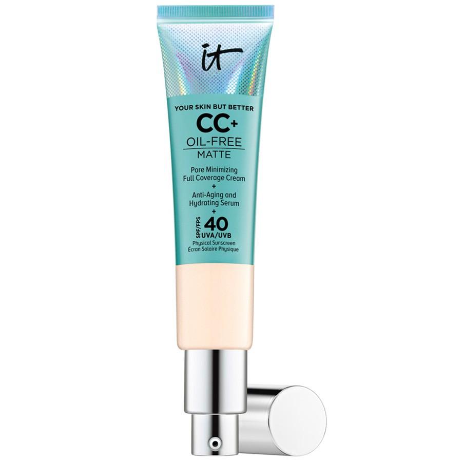 IT Cosmetics CC+ Oil-Free Matte krém SPF 40 fényvédővel-zsíros bőrre