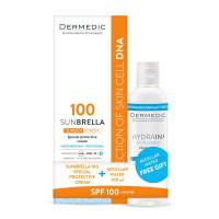 Dermedic Speciális fényvédő SPF 100+,Hydrain Micellás víz