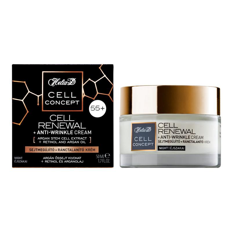 Helia-D Cell Renewal+Anti Wrinkle Night Cream 55+