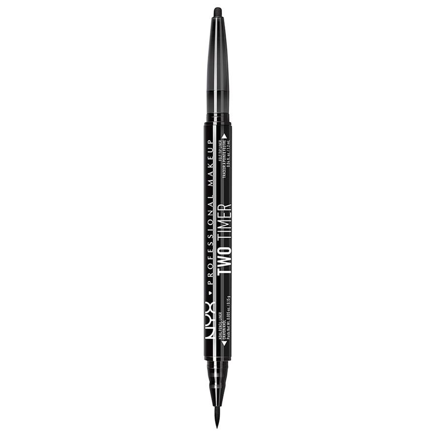 NYX Professional Makeup Two - Timer Dual Eye Liner - Jet Black
