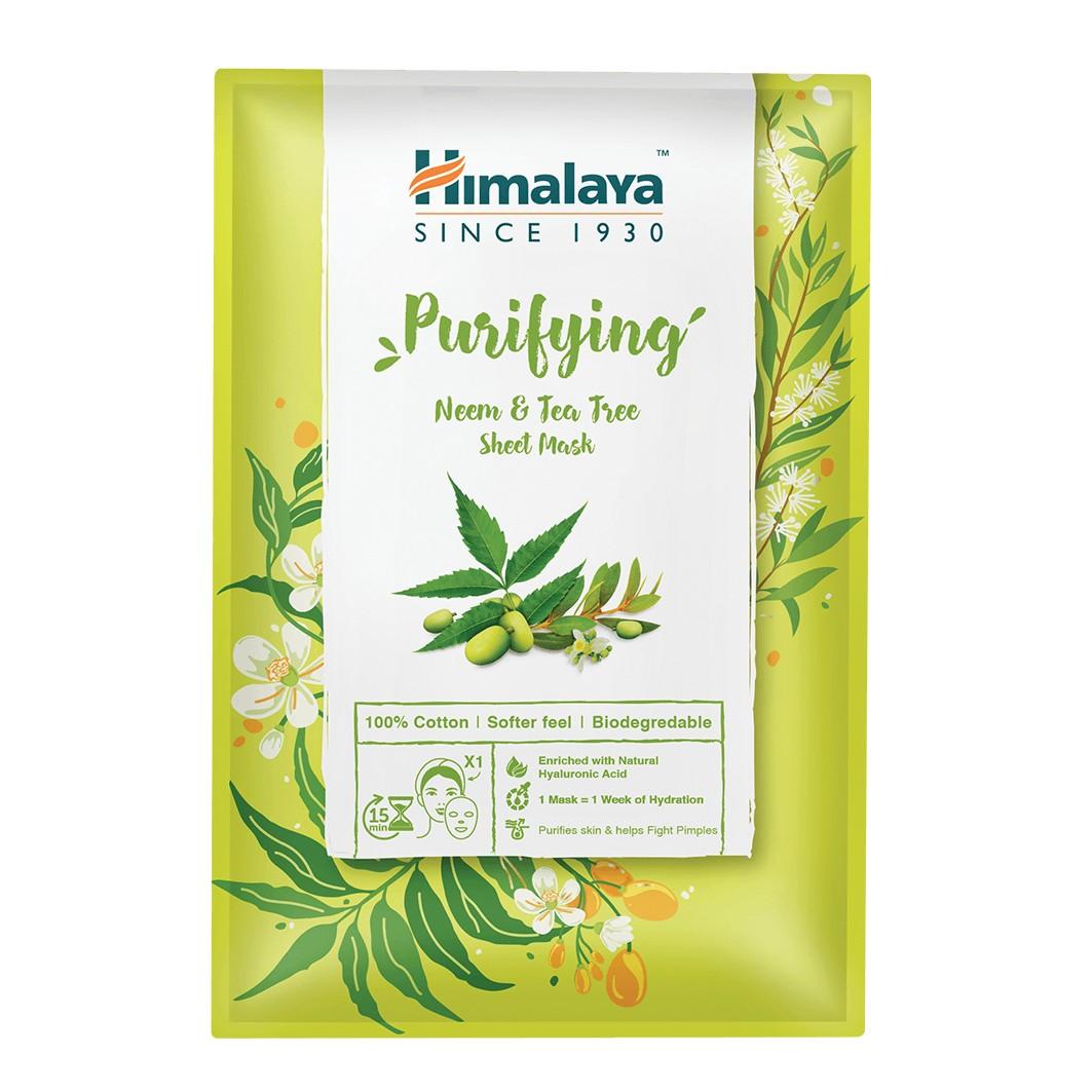 Himalaya Arctisztító textilmaszk nim növénnyel és teafával